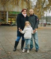 Nicole & Marcel mit Tochter, Königs Wusterhausen