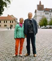 Renate mit ihrem Ehemann, Neuruppin