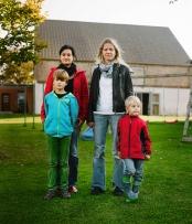 Juliane & Viola mit ihren Söhnen - Lentzke